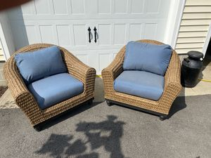 Light brown Camden sea grass wicker chairs. for Sale in Preston, MD