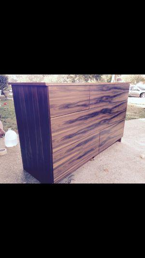 Walnut Drawer Wide Dresser for Sale in Rockville, MD