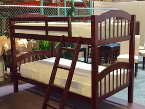 Twin Over Twin Bunk Beds with Mattresses Free Delivery for Sale in Dallas, TX