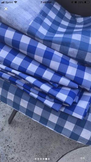 Table cloths blue and burlap for Sale in Riverside, CA