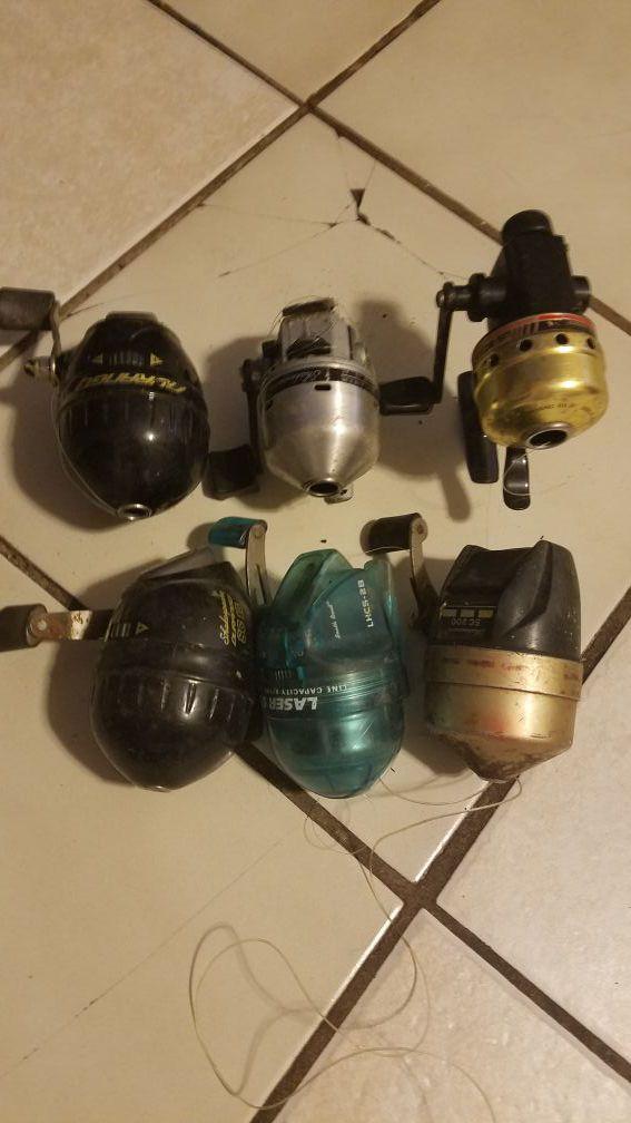 Used fishing reels