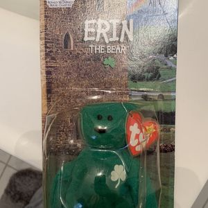 Erin The Bear Official TY Beanie Baby Still In Packaging Never Opened for Sale in Hammonton, NJ