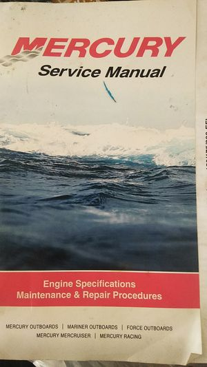 Mercury outboard service manual for Sale in Brentwood, CA