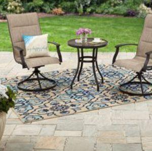 New!! 3 pc bistro patio set, outdoor conversation set, chat set, patio furniture , tan for Sale in Phoenix, AZ
