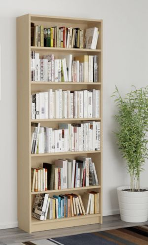 2 wooden malm bookshelves- can sell separately for Sale in Chicago, IL