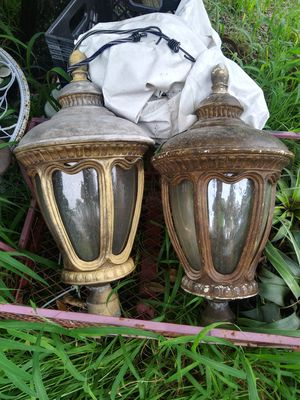 Antique Bubble Glass coach lights for Sale in Fort Pierce, FL