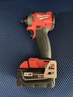 Milwaukee FUEL M18 brushless impact driver with 1 XC5.0 battery NO CHARGER $140 FIRM !!! for Sale in Miami, FL