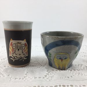 Set of Owl Pottery Signed by Artist for Sale in Gresham, OR