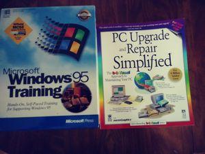 Microsoft windows 95 training kit & PC Upgrade & repair simplified for Sale in Chambersburg, PA