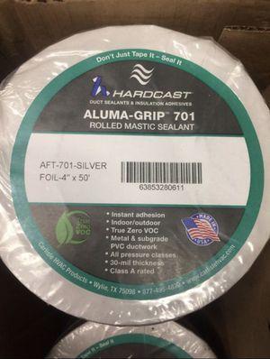 "Hardcast Aluma-Grip 701 Duct rolled Mastic sealant 4"" X 50' for Sale in Stockton, CA"