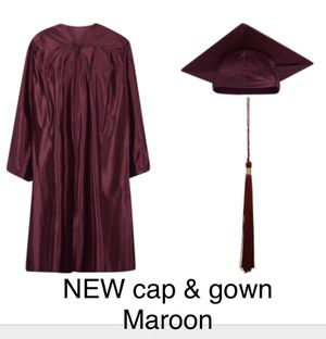 NEW Jostens Maroon graduation cap and gown for Sale in Mercer Island, WA