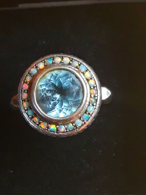 Fire Opal, Aquamarine Ring for Sale for sale  Seaside, OR
