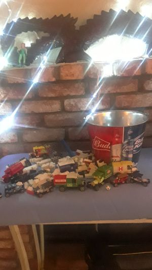 Collectors cars ,small legos,&Budweiser cooler pail. for Sale in Vista, CA
