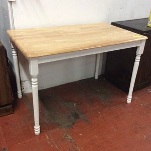 Cute wooden kitchen table with white legs for Sale in Bellingham, MA