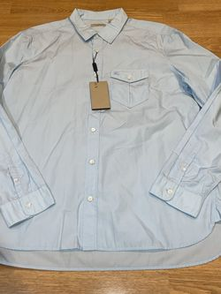 Burberry Brit Men's 2XL Blue Shirt NWT for Sale in Milwaukie,  OR