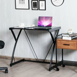 Glass Top Computer Desk Writing Study Workstation for Sale in City of Industry,  CA