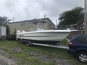 """1994 Hydra Sports 25'5"""" With Twin Evinrude 200 HP Oceanpros, Aluminum Tandem Axle Trailer for Sale in Bay Harbor Islands, FL"""