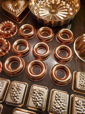 Vintage Copper Jello & Cake Molds for Sale in New Haven, IN