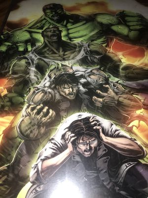 Incredible Hulk 11x17 anime art print comes in a top loader case for Sale in Colorado Springs, CO