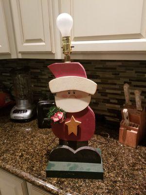 Santa wood light for Sale in Granger, IN