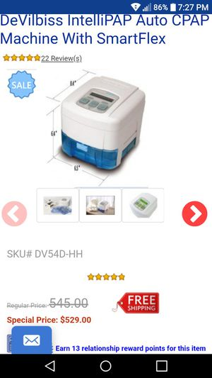 DeVilbiss CPAP machine with the case for Sale in Seal Beach, CA