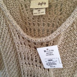 NEW Gold Sweater NWT DAYTRIP metallic gold oatmeal tunic sweater XS Originally $29.95 for Sale in Austin, TX