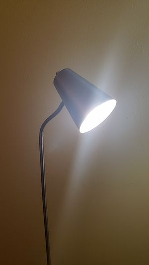 Silver Floor Lamp with Bright White Light for Sale in San Francisco, CA
