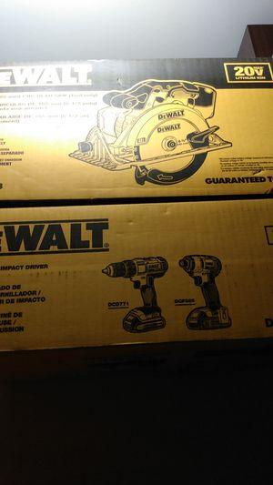 20v DeWalt drill,impact,and circular saw bnib $200 firm for Sale in Lake Charles, LA