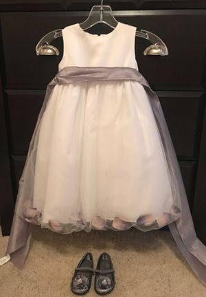 Flower girl dress & shoes for Sale in Lillington, NC