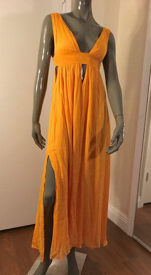 "INDAH Women's ""S"" Bright Yellow Long Summer Dress for Sale in Hallandale Beach, FL"