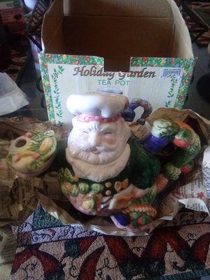 Holiday graden tea pot for Sale in Glendale, AZ