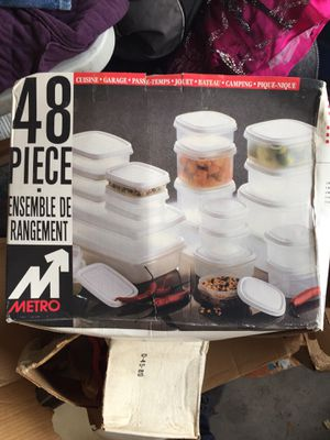 48 piece food storage container for Sale in Fresno, CA