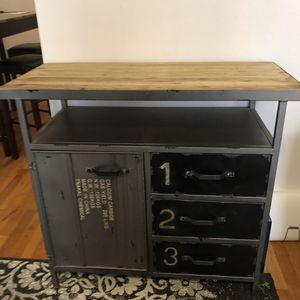 Metal and wood cabinet for Sale in New York, NY