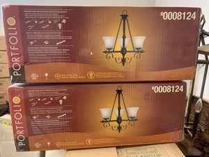 Portfolio 3 light chandeliers for Sale in Atlanta, GA