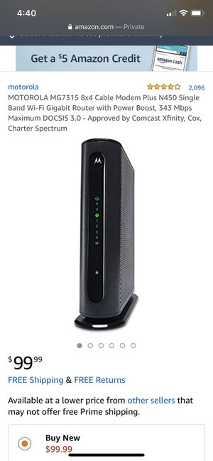 Cable Modem and Router for Sale in Chuluota, FL