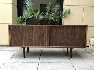 Mid century modern style walnut credenza for Sale in San Diego, CA