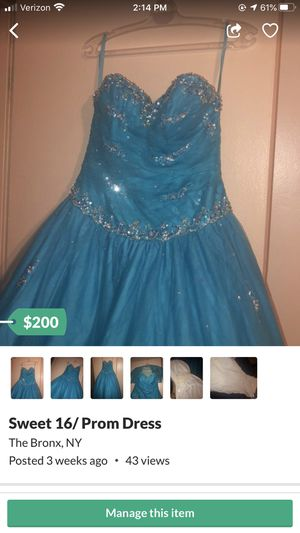 BABY BLUE SWEET 16/PROM DRESS for Sale in The Bronx, NY