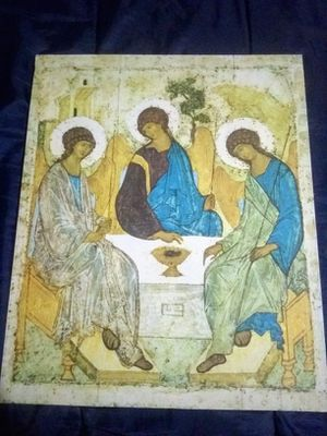 The Holy Trinity. Andrei Rublev. Canvas, Russian Icons. Big. for Sale in Silver Spring, MD