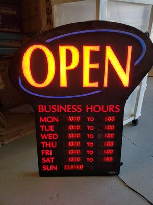 Open sign for Sale in Irving, TX