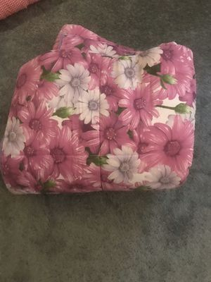 King Comforter Crown Crafts Floral Roses Morning Glory Butterflies Cotton USA for Sale in Aurora, IL