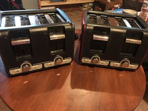 Oster 2 slice and 4 slice toasters for Sale in Orma, WV