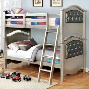 Twin / Twin bunk bed 🛏 on sale @Elegant Furniture 🛏🎈🛌 for Sale in Fresno, CA