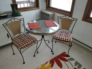Glass top patio table and chairs for Sale in Rochester, MN