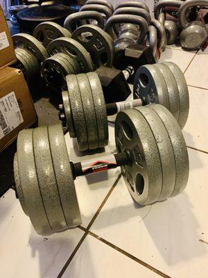 60 lbs each adjustable dumbbell set for Sale in Davie, FL