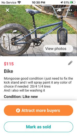 Mongoose PICK UP ONLY DONT PAY THROUGH THE APP pay when you pick it up please for Sale in Youngsville, LA