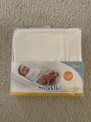 HALO SleepSack SwaddleChange Diaper Pad Cover (Cream), Newborn for Sale in San Jose, CA