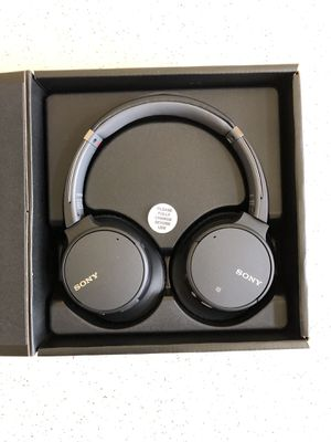 Sony - WH-CH700N Wireless Noise Canceling Over-the-Ear Headphones - Black for Sale in Garland, TX