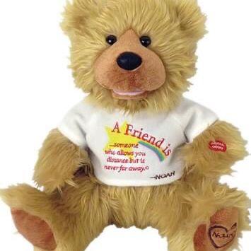"Great Christmas Present-Chantilly Lane Noah ""A Friend Is"" Bear 12"""