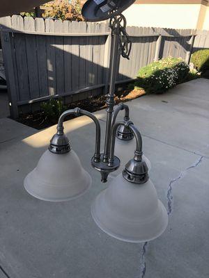 Brushed nickel 3 light chandelier for Sale in San Diego, CA