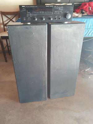 Good working Yamaha house stereo system for Sale in San Bernardino, CA